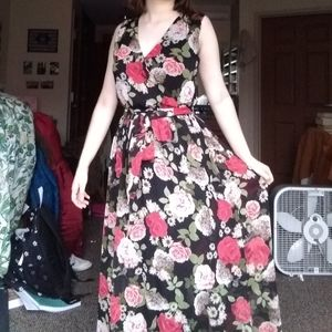 Floral Disney Beauty and the Beast Maxi Dress